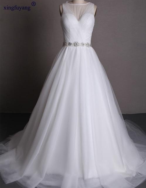 Hot Y Open Photos Crystal Sashes Scalloped Maternity Wedding Dress Pleat Long Train Rhinestone