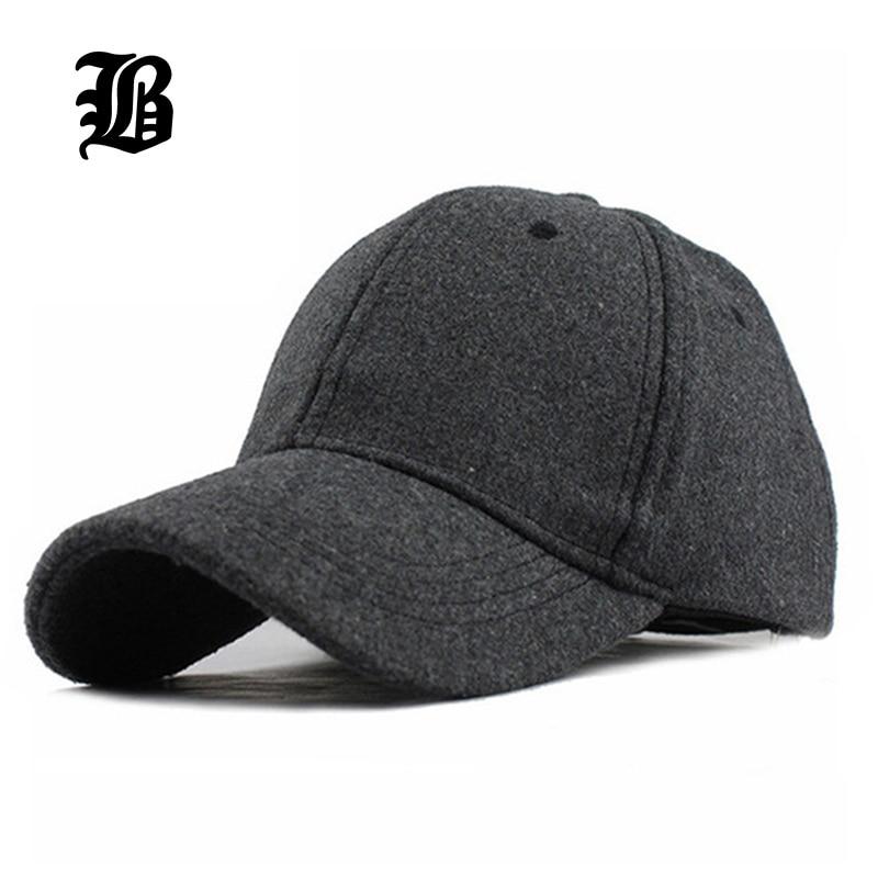 b3f6766c86bbe  FLB  venta al por mayor Unisex sólido nuevo hombres sombreros gorra de  béisbol de algodón de Invierno Caliente hueso del sombrero del Snapback  Gorras ...
