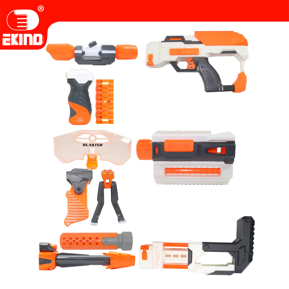 EKIND Tactical Toy Gun Modified Part Component for Nerf N-strick seises Blasters Kid mini Gun Outdoor Fun room decor наклейка интерьерная детские картинки грибок улитка цветок 13 шт