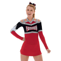 Cheerleader Uniform Performance Sport Outfit Flexiable 2017 New Style 5sets Pom Pom Hairbow Handmade