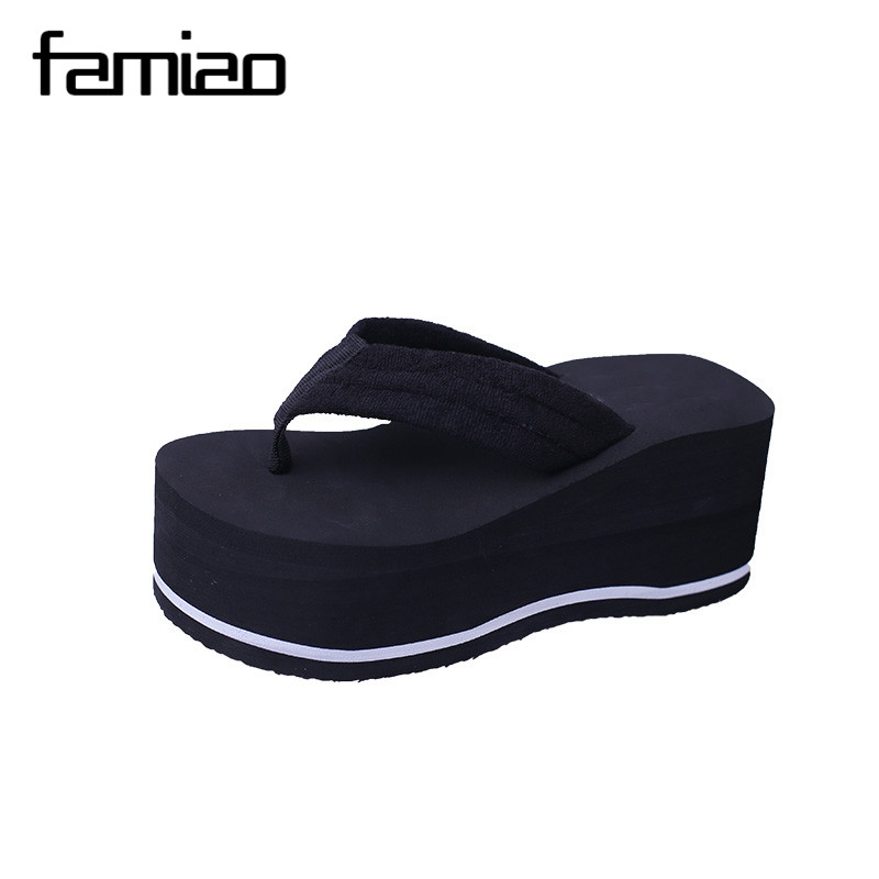 FAMIAO sandalias mujer platform sandals wedges 2017 gladiator sandals women beach holiday ladies shoes summer Zapatos 2017 summer new rivet wedges sandals creepers women high heel platform casual shoes silver women gladiator sandals zapatos mujer