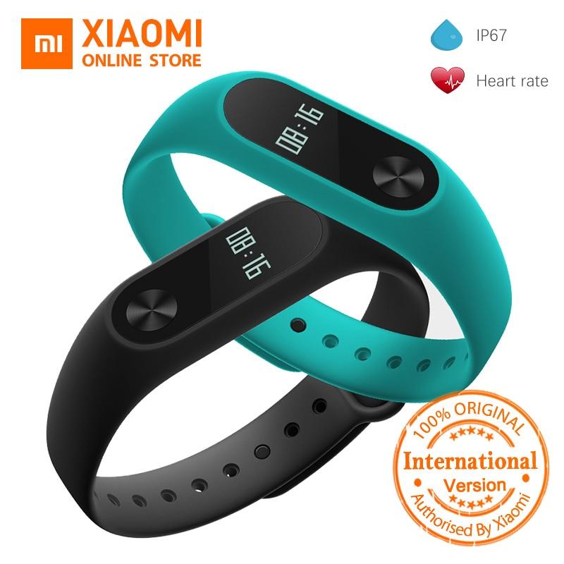 Глобальная версия Сяо mi Группа 2 mi Группа 2 смарт-mi Группа OLED Дисплей Touchpad монитор сердечного ритма Bluetooth 4,0 Фитнес трекер