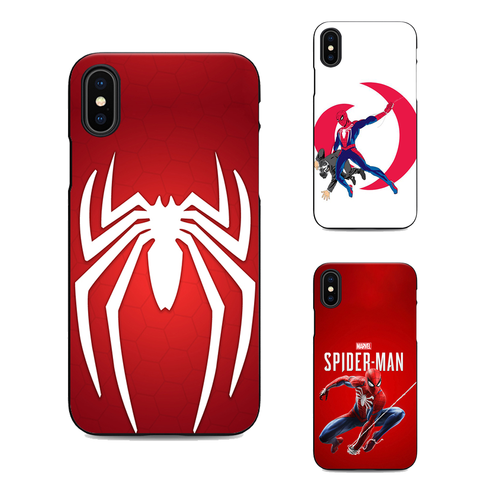 official photos 4cdb8 89aaa US $1.64 34% OFF|spider man ps4 soft Silicone black cover spiderman phone  case for iPhone XR XS Max 6 7 8 plus 5 5s 6s se for Apple X 10 Housing-in  ...