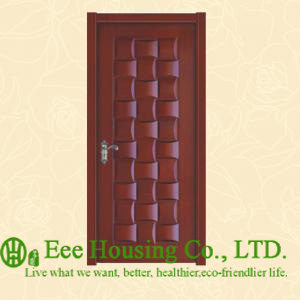 40mm Thickness Timber Veneer Door For Residential Villa, Swing Type Door, Inward & Outward Opening Entry Door, MDF Timber Door