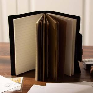 Image 5 - Пустые Дневники, дневники, дневники, рабочая книга A6, чехол из натуральной кожи, личный планировщик, блокнот, серый, черный, коричневый, блокнот для путешествий