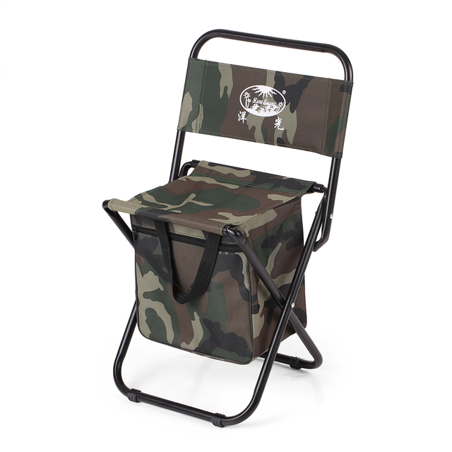 Camouflage Folding Fishing Chair Seat Outdoor Camping For Festival Picnic  BBQ Beach 28 * 28 *
