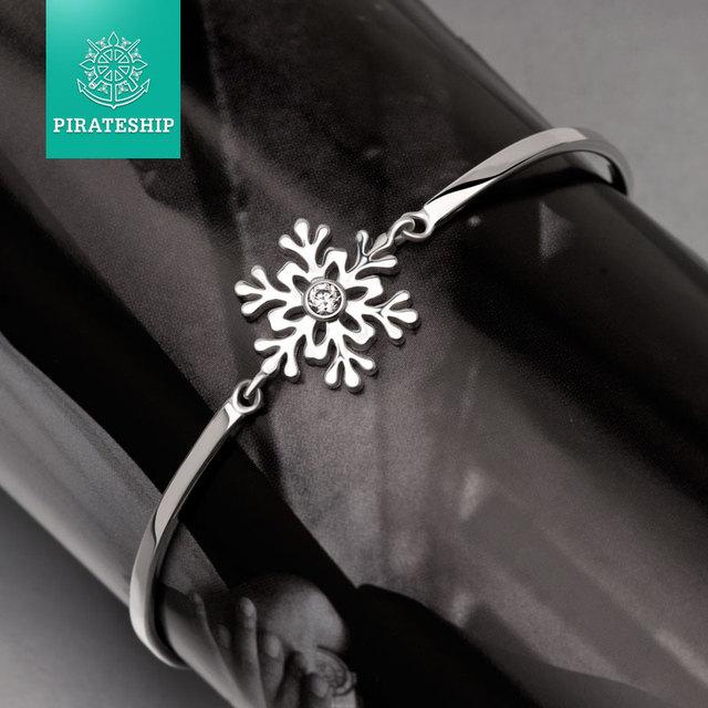 pirateship silver Snowflake shaped Bracelet 925silver Lady Bracelet