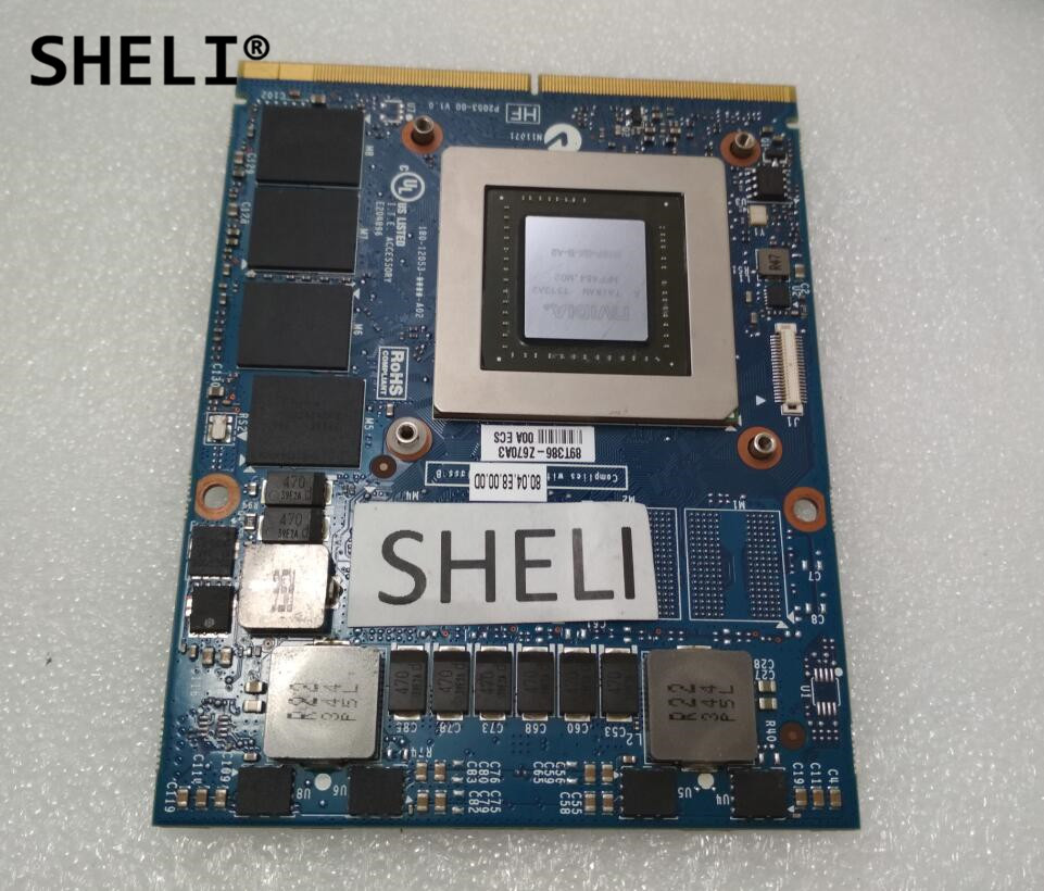 SHELI J0M0K CN-0J0M0K N15P-GX-B-A2 GTX860M GTX 860M MXM 3.0 DDR5 2GB VGA Video Graphics Card For DELL M17X R5 M18X R3 laptop n15p gx a2 n15p gt a2 computer graphics card chips leave a message model you need