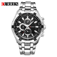 CURREN Luxury Brand Men Military Sport Watches Men S Quartz Male Clock Full Steel Waterproof Wrist