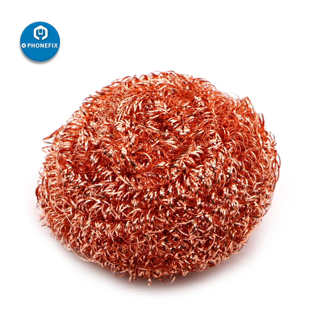 Metal Soldering Tip Cleaner Solder Tip Cleaning Tool Universal Wire Soldering Iron Tip Cleaner Wire Cleaner Sponge Ball