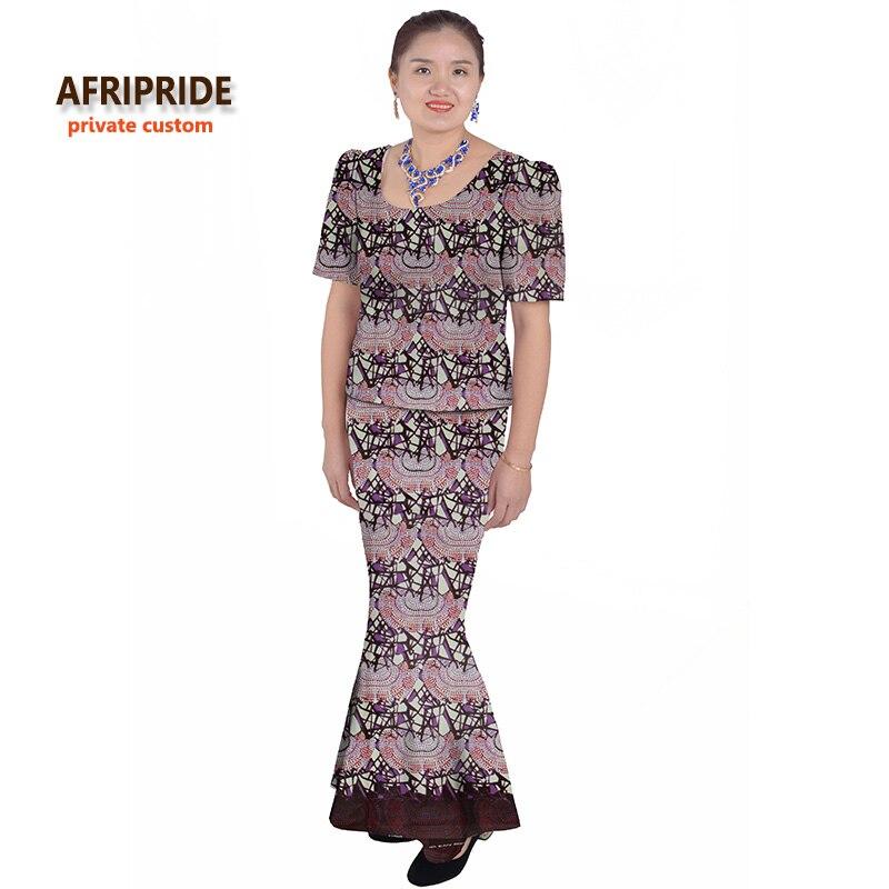 Afrički klasični tradicionalni suknja set za žene AFRIPRIDE kratki - Nacionalna odjeća - Foto 2