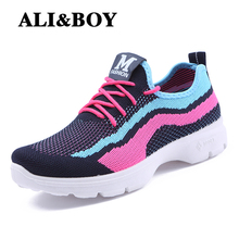 ALIBOY women walking sports shoes baskets homme sneakers for woman Footwear summer breathable sport shoes basket femme female
