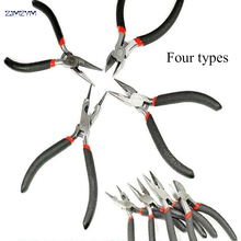 Hot 4 types mini Electronic Pliers With spring Long nose Diagonal Round nose Pliers Cutting Pliers Cable Wire Cutter Repair tool 100% jingliang electronic copper wire shears cutter model pliers diagonal cutting pliers cr v 3 pcs