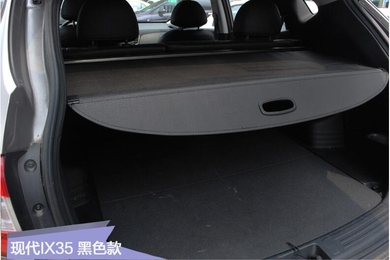 Car Rear Trunk Security Shield Shade Cargo Cover For HYUNDAI IX35 2009 2010 2011 2012 2013  (Black beige) car rear trunk security shield cargo cover for hyundai tucson 2006 2014 high qualit black beige auto accessories