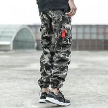 Fashion High Street Men Jeans Casual Pants Camouflage Loose Fit Jogger Brand Designer Big Pocket Cargo