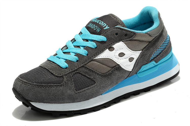 Free shipping Hot Sale West Nyc x Saucony Shadow Original Women's Shoes,New Colors Women's Shoes Grey/Sky Blue Color