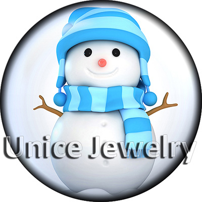 AD1304259 12/18/20mm Snap On Charms for Bracelet Necklace Hot Sale DIY Findings Glass Snap Buttons Dog Snowman Symbol Design