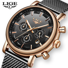 LIGE New Mens WristWatch Top Brand Luxury Business Casual Quartz Clock Military Sport Waterproof Watches Men Relogio Masculino infantry top brand luxury mens watches fashion casual sport wristwatch led display date clock army military relogio masculino