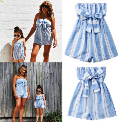 Familie Kleidung Mutter Tochter Passenden Kleider Kinder Mädchen Süße Reine Farbe Kleid Mom Harf Mode Kleid Lose Kleidung Mutter & Kinder