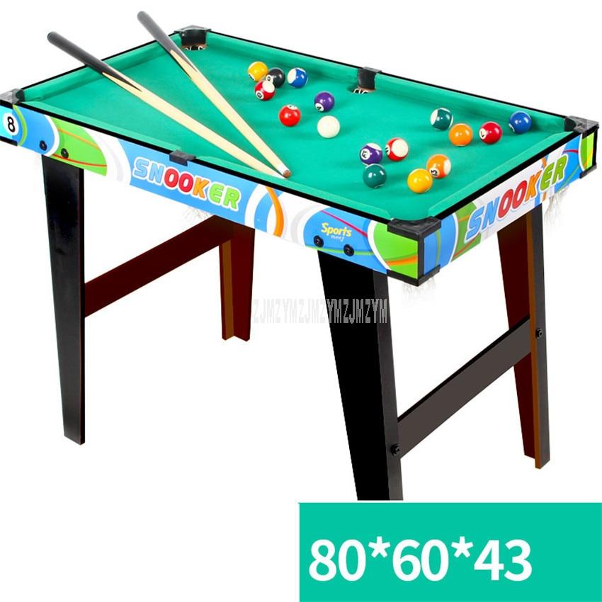 L Size Children's Billiard Table Sets Mini Pool Table Wood Frame