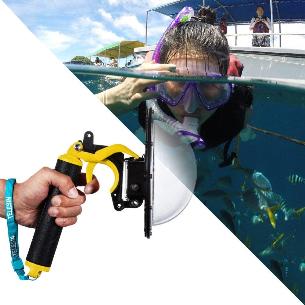 TELESIN dôme Port étui étanche pour la photographie lors de la plongée sous-marine 30 M de profondeur pour Sjcam SJ6/SJ7 caméra livraison gratuite