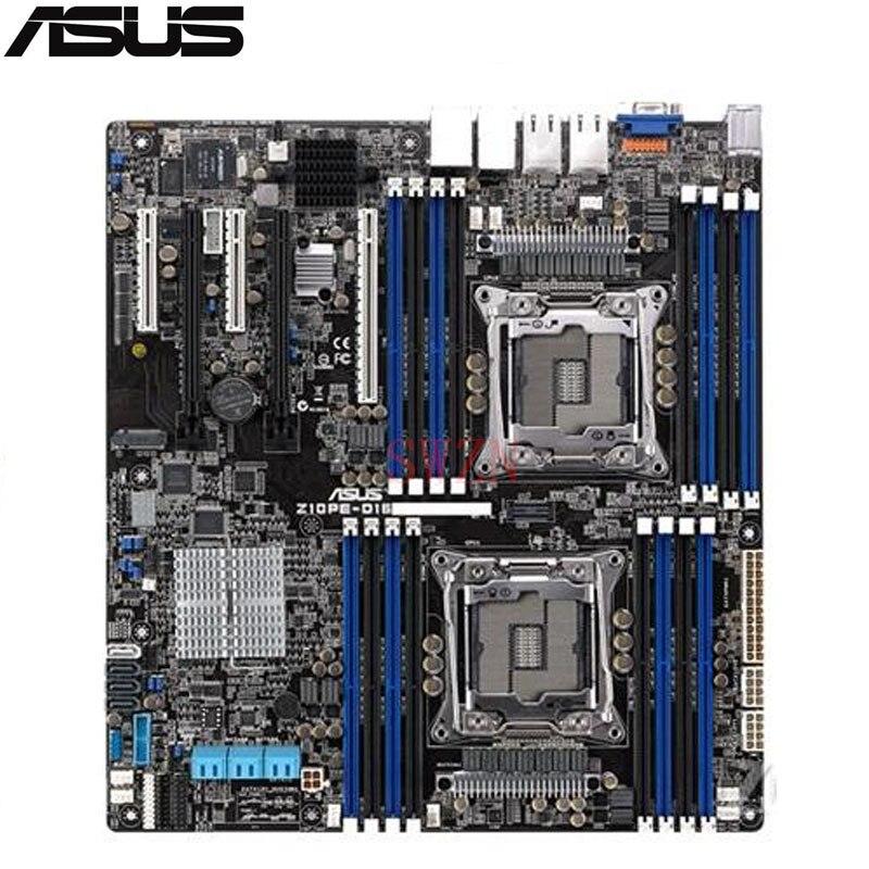 original NEW Server motherboard For Z10PE-D16/4L Z10PE-D16 4L Socket 2011-3 Maximum 24*DDR4 1024GB 10xSATAIII 1xM.2 ATX