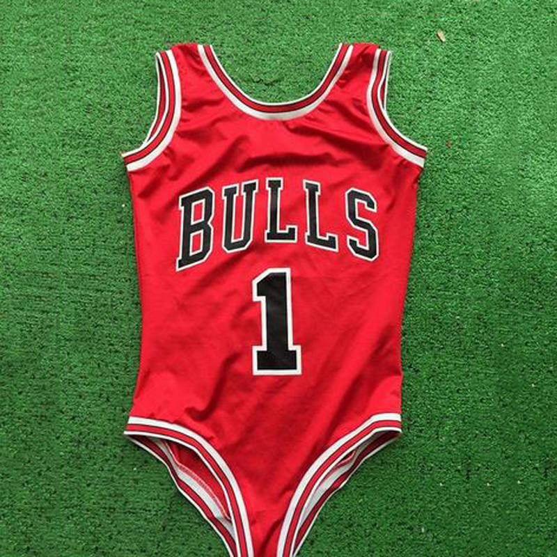2018 Red Thong one piece swimwear New Arrival Women Sexy Monokini Bulls Bodysuit Swimsuit bathing Suit Letter Beach wear S-XL sweet years sy 6282l 07