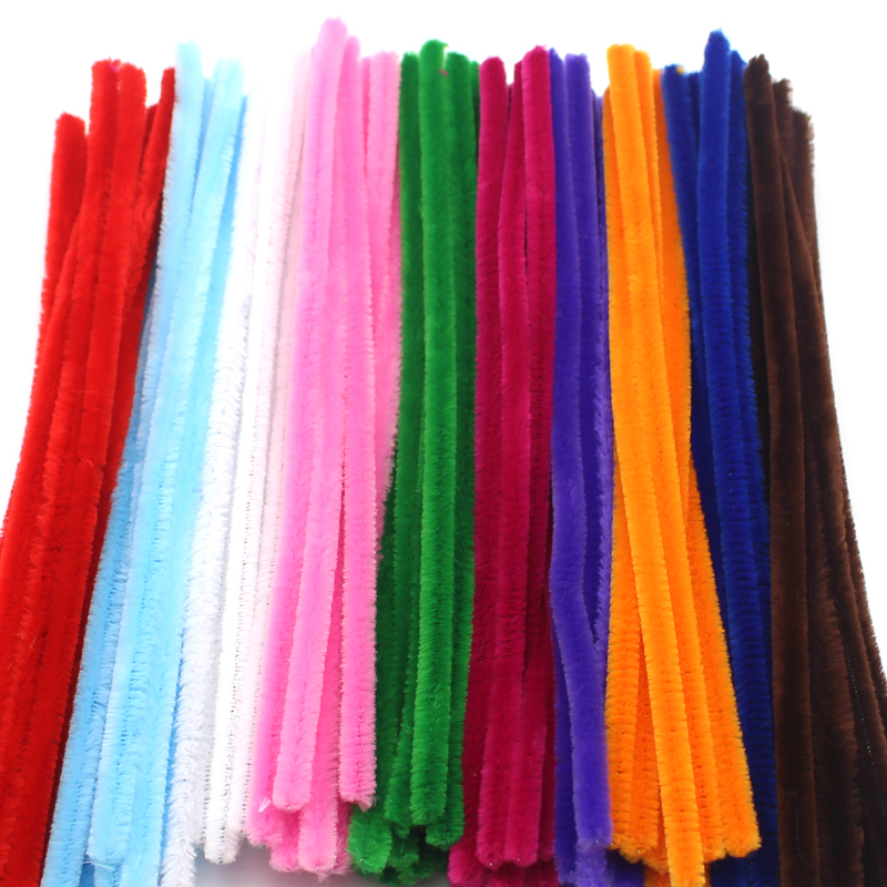 Lucia Crafts 8mm Multi color option Chenille Stems Pipe Cleaners Party Supplies Handmade Diy Art Craft 22010025