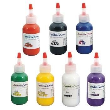 7pcs/set Professional Tattoo Ink 60ML/Bottle 2OZ Permanent Makeup Pigment Mix Colors  Kit