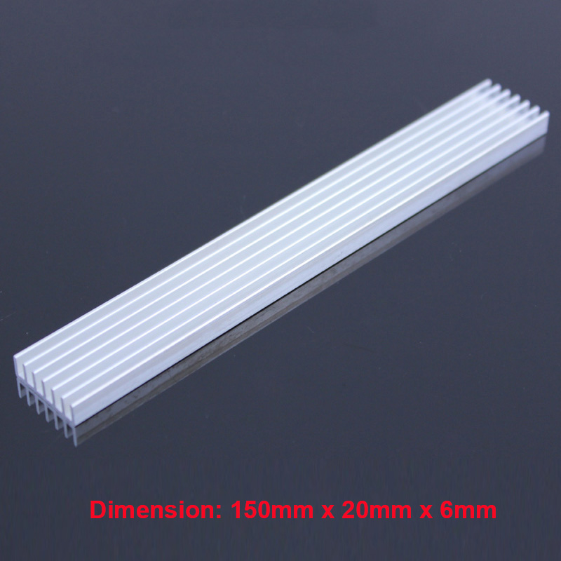 5pcs/lot 150x20x6 MM 3 x 1W LEDs Heatsink Aluminum Heat Sink Radiator for IC Cooling,Electronic Chipset heat dissipation synthetic graphite cooling film paste 300mm 300mm 0 025mm high thermal conductivity heat sink flat cpu phone led memory router