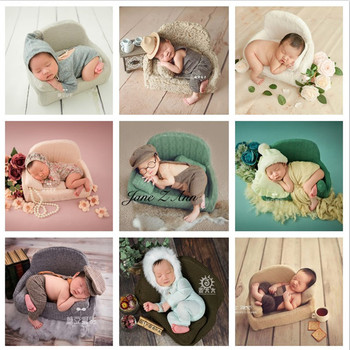 Jane Z Ann Baby Girl Boy 0-3 month Photography Props Soft Sofa+3 pillows Photo Shooting Children  Toddler Infant  Little Sofa