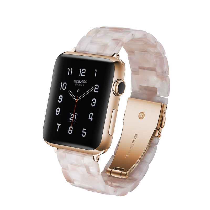 Apple Watch Band Series 4 3 2 1 38/40/42/44/mm Resin Strap IWatch 4 Watchband Fashion Replacement Band Bracelet Accessories