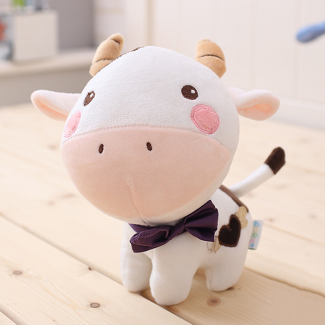 Cute Mini Plush Dog Toy Animal Cow Doll Stuffed Bear Toys For Children Cartoon Animals Dolls Giocattoli Christmas Gifts 50T0300