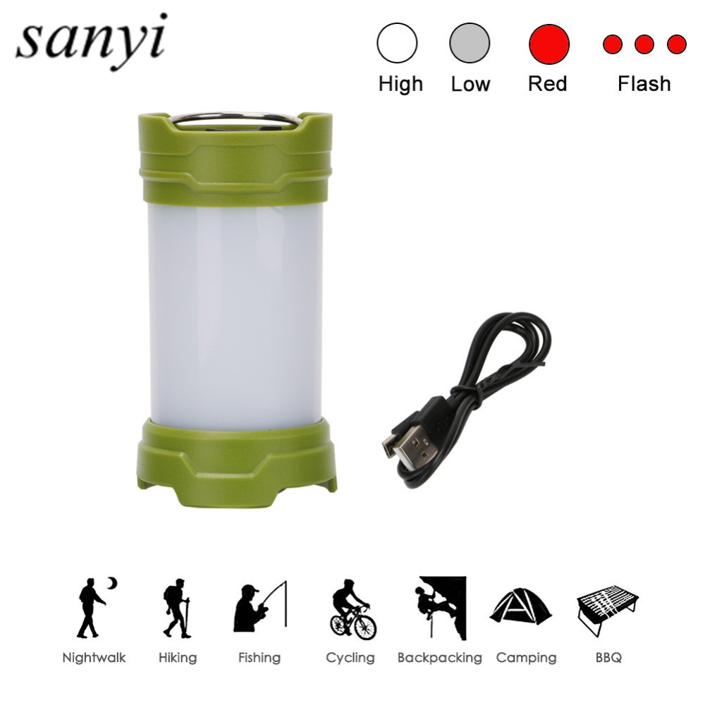 30 LED Camping Lanterns Flashlight USB Rechargeable Tent Lamp Light 4 Mode Outdoor Torch with Magnetic Base and Hook For Camping