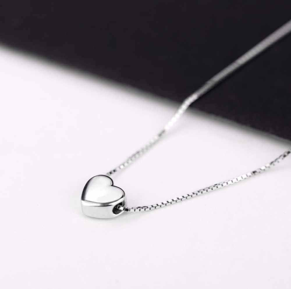 Nouveautés 925 argent Sterling amour coeur colliers pour femmes bijoux de mariage longs colliers déclaration bijoux