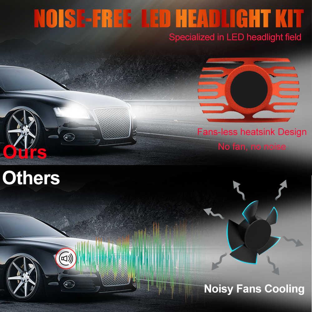 BraveWay H4 H7 Led Car Headlight Bulbs 12V 80W H8 H9 H11 Led Auto Lampada 12000LM 9005 HB3 9006 HB4 CSP Chip Led Fog Light 6500K