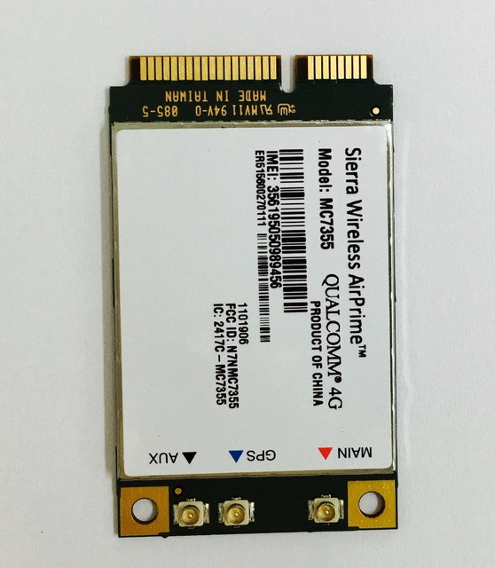 Sierra Wireless Mini PCIE 4G QUALCOMM Chip MC7355 UMTS, HSDPA, HSPA +, LTE, 1 1xrtt, EVDO Rev A, GSM, GPRS 100% Nova Original Genuine