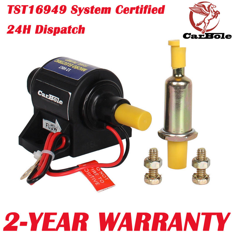 4-7 PSI High Performance Electric Fuel Pump For Use w//Carburetor 35 GPH 12V US