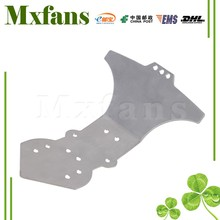 Mxfans Silver Stainless Steel 08002 Front Skid Plate for HSP RC1:10 Off Road Car Truck