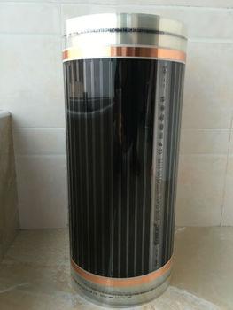 Termostato Térmico | 75m2 Película Eléctrica De Calefacción Por Suelo Infrarrojo AC220V +/-220 W/M2 Alfombrilla De Película De Calor Radiante Con Accesorios