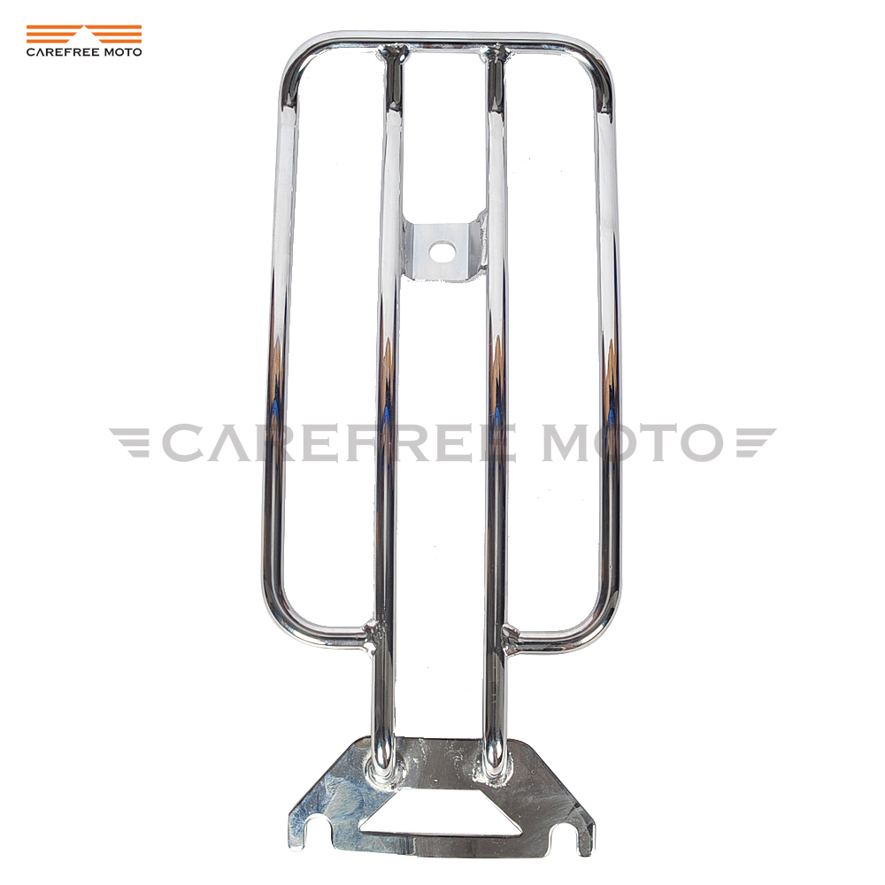 Chrome Moto Solo Rear Seat Luggage Rack Case for Harley Electra Glide Road King Touring 1997-2005