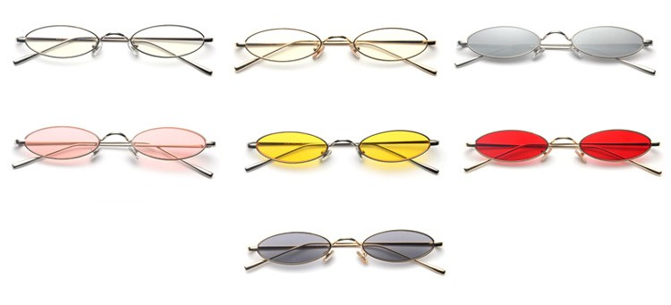 Small Oval Retro Metal Frame Sunglasses Available Colors
