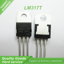10PCS LM317T LM317 Voltage Regulator IC 1.2V to 37V 1.5A TO-220 new original