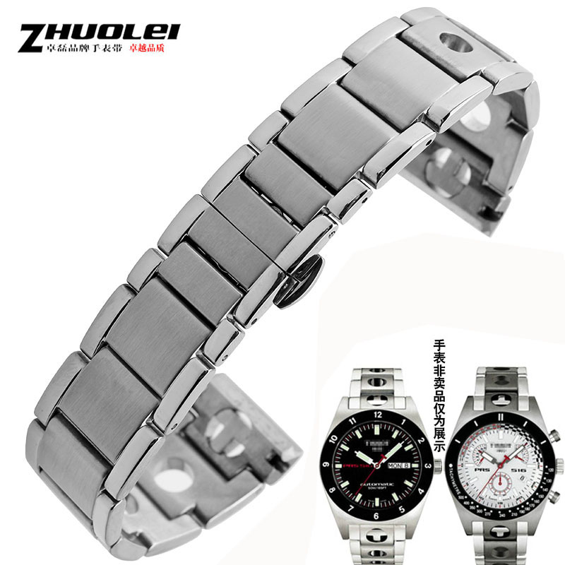 High quality 20mm stainless steel watchband for T91 Watch Band PRS516 Racing series Stainless Steel band