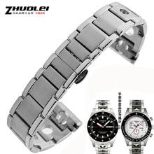 De alta calidad de 20mm correa de acero inoxidable de Venda de Reloj PRS516 T91 serie de Carreras de correas de banda de Acero Inoxidable Reloj de Pulsera