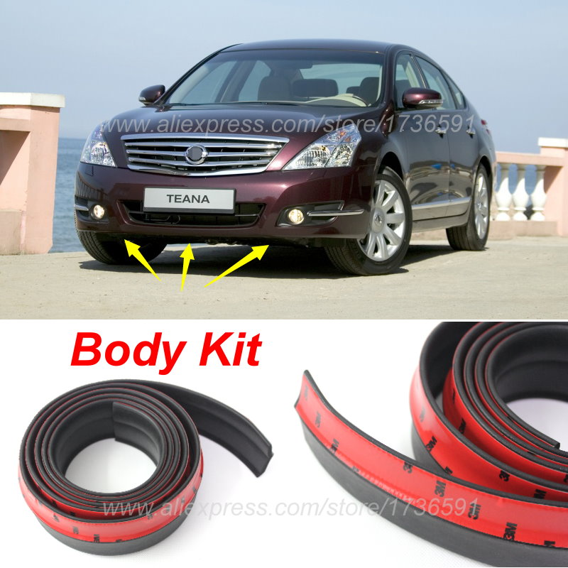 Para Nissan Teana J32 J31 L33/Car Bumper Lip Lábios Defletor/Body Kit/Tiras Laterais/Spoiler Dianteiro Saia/Vista de Carro Tuning