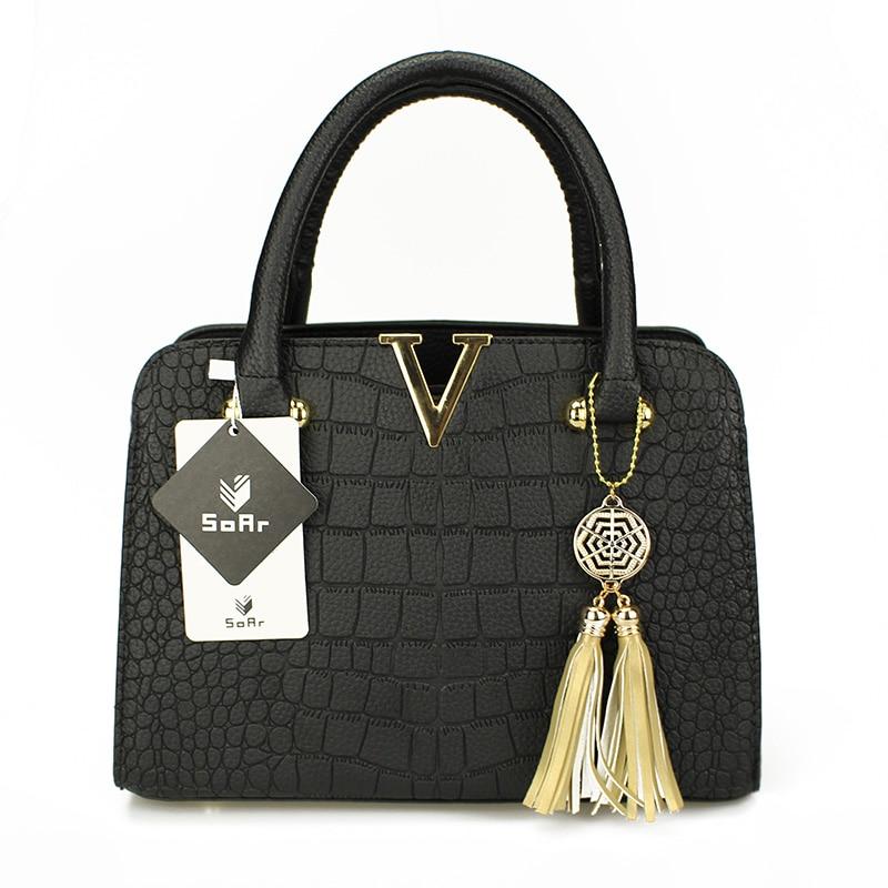 Image 2 - New Crocodile Pattern Women Bag Handbags Women Messenger Bags Crossbody Shoulder Bags Ladies Tassel Women Leather Handbags Hot-in Top-Handle Bags from Luggage & Bags