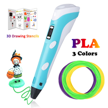 Printing 3D Pen Birthday Gift Canetas Criativa Lapiz 3D Pen for kids Drawing With PLA Filaments Printing 3D Pen Mais Vendidos 3d pen printing pla filament 3 d pen for kids drawing with led printing 3d pen canetas criativa birthday gift mais vendidos