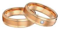 tailor made unique rose gold color health titanium jewelry engagement wedding rings bands sets for men and women