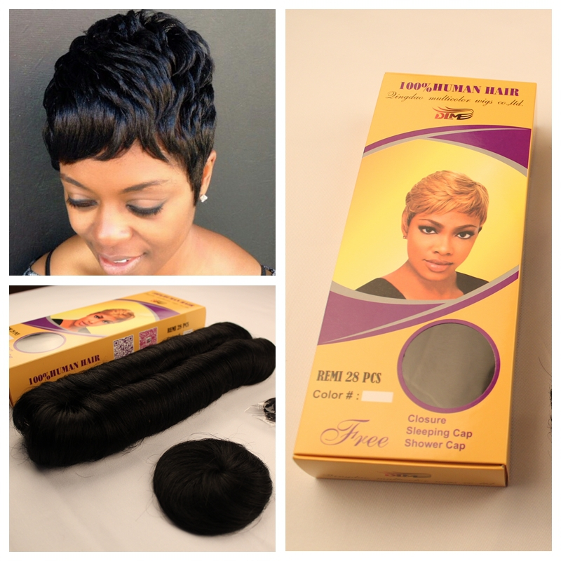 2PCfree Shipping 27 Pieces Short Hair Weave Wholesale